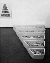 "Robert Smithson, ""A Nonsite"" 1968. Mixed media installation."