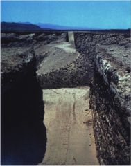 """Michael Heizer, """"Double Negative"""" 1969. Displaced earth."""