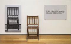 "Joseph Kosuth, ""One and Three Chairs"" 1965. Mixed media installation."