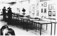 """Marcel Broodthaers, """"Musee d'Arte Moderne, Department des Aigles"""" 1972. Mixed media installation."""