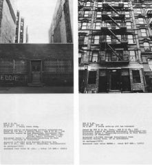 """Hans Haacke, """"Shapolsky, et al, Manhattan Real Estate Holdings, A Real Time Social System"""" 1971. Mixed media installation."""