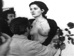 "Marina Ambramovic, ""Rhythm 0"" 1974. Performance."