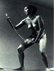 """Carolee Schneemann, """"Interior Scroll"""" 1975. Performance."""