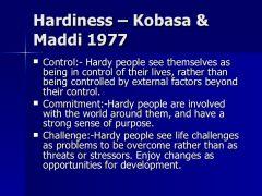 Kobasa et al.(1985)