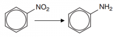 Nitrobenzene to phenylamine (Type of reaction, reagents and conditions)
