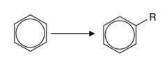 Benzene to an alkyl group