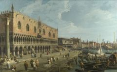 """-Venetian artist  - it was thought that this artist used camera obscura to render his vedute (A veduta (Italian for """"view""""; plural vedute) is a highly detailed, usually large-scale painting or, actually more often print, of a cityscape or some oth..."""