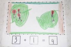 There were 3 ladybugs on one leaf, and one ladybug on another leaf. How many ladybugs all together?