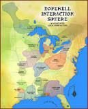 the common aspects of the Native American culture that flourished along rivers in the northeastern and midwestern United States from 200 BCE to 500 CE