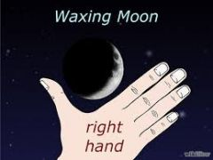 When you see the moon as a slim crescent - in the west after sunset - it's a waxing moon