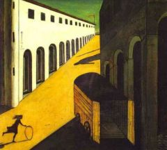 """Giorgio de Chirico was the the forerunner.  """"Mystery and Melancholy of a Street"""""""