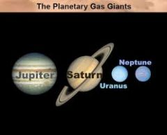 A large planet of relatively low density consisting predominantly of hydrogen and helium, such as Jupiter, Saturn, Uranus, or Neptune.