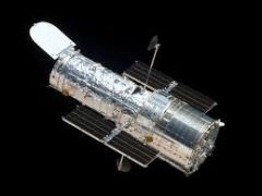 The Hubble Space Telescope is a large telescope in space.