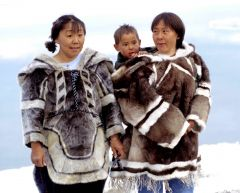 a member of an indigenous people of northern Canada and parts of Greenland and Alaska