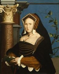 English woman's headdress, pointed shape resembles the gable of a house