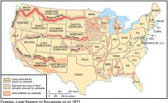 My Definition: Federal government loaned land and money to railroad companies for the main purpose of increasing commerce between both ends of the country and also better transportation of mail and troops.   Sentence: As a result of the constructe...