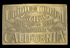 My Definition: Union pacific built from the east to west while central pacific built from the west to east and met at Utah.   Sentence: The Union and Central Pacific railroads were funded by the US government and led by General Grenville Dodge and...