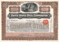 My Definition: Former Carnegie steel company which was sold to J.P. Morgan as United States Steel which became the largest enterprise in the world.    Sentence: The US Steel corporation was sold from Andrew Carnegie for 400 million dollars.