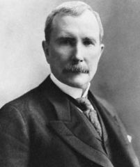My Definition: Founder of the largest oil refinery company in the United States.   Sentence: Rockefeller was able to compete in the market because of his strategy of eliminating all of his competition.