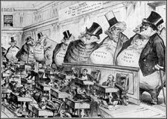 My Definition: Federal law that outlawed monopolies.   Sentence: The Sherman antitrust act was a reaction to the growing fear from middle class citizens and old urban elites.