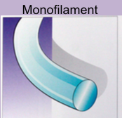 What are some types of monofilament/ pseudomonofilament?