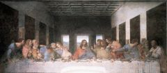 - mixed oil paint and plaster --> painting flaked off.  - commissioned for monastery dining hall shows part of life ofChrist in new way - new level of psychological tension - no one has a halo - more natural, window behind Christ serves as sort o...
