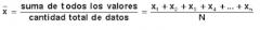 Es un promedio estándar de todos los valores obtenidos. Se obtiene mediante la suma total de  valores dividida por la cantidad de datos obtenidos.
