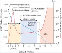- Viren gelangen über Schleimhautdefekte in den Organismus → HI-Virus kann ausschließlich Zellen mit dem CD4-Oberflächenmolekül infizieren (dendritische Zellen, T-Helferzellen, Makrophagen/Monozyten und Mikroglia) → von Langhans-Zellen auf...