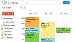 La aplicación Calendar muestra eventos de las cuentas de Google que sincronices con tu dispositivo Android. Otras posibilidades: - Crear, editar y eliminar eventos. - Ver todos tus calendarios al mismo tiempo, incluidos los que no sean de Googl...
