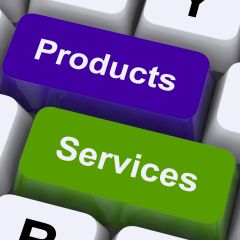 """an article or substance that is manufactured or refined for sale.""""marketing products and services"""""""