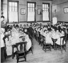 My Definition: Early institutions that provided social services for people in need.    Sentence: One of the most notable settlement Houses was Hull House which was founded by Jane Adams.