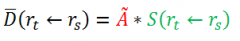 What do the 't' and 's' subscripts mean on the 'r'?