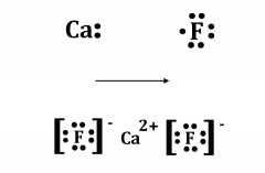 The chemical formula is CaF2.