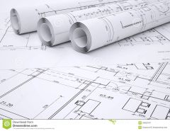 The architectural and structural plans of the building.