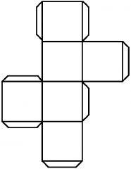 Prisma rectangular con seis caras cuadradas congruentes.