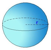 Figura de 3 dimensiones en el que todos los puntos están de la misma distancia del medio