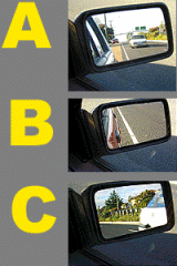 Which side mirror is adjusted best?
