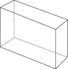 Poliedro cuyas bases son rectángulos y cuyas caras tienen forma de paralelogramo.