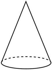 Figura 3 dimensional con un círculo parala base y un vértice encima