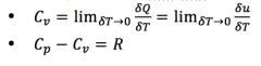 = 3R/2 for monatomic        = 5R/2 for diatomic        = 7R/2 for triatomic