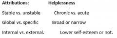 In humans, attributions