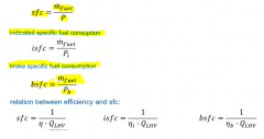 sfc = fuel consumption related to engine power
