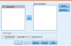 In the SPSS window below, what two tests are missing from the 'Test Type' box?
