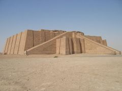 Ziggurat of Ur   Dhi Qar Province, Iraq   Sumerian   2,100 B.C.E.   _______________________   Content: This is a stone ziggurat that probably housed a temple at its top. It's made from stone-cut squares and it's famous for the massive, d...