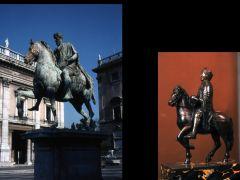 Title: Equestrian Statue of Emperor Charlemagne  Date: ninth century Subject: Comparison to Marcus Aurelius