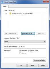 You manage a Windows 7 computer.  One day you are downloading some new mp3 files to your computer.  You save the files directly to the Music library on your computer.  You want to copy the new files to a different folder on your computer.  You view th