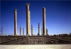 #30   Audience Hall (apadana) of Darius and Xerxes   Persepolis, Iran   Persian   520 - 465 B.C.E.   ____________________   Content: The hall is part of a citadel that sits high on a plateau. The hall in now in ruins but the surround...
