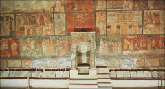 The Parting of the Red Sea, Torah Niche, House Synagogue, Dura Europos, Late Antiquity, 244-45 CE.