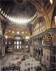 Anthemius of Tralles and Isidorus of Miletus, Church of Hagia Sophia, (Interior), Byzantine, 532-537.