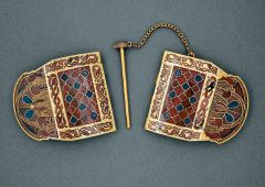 Hinged Clasp, Sutton Hoo, England, Anglo-Saxon, 7th century CE.